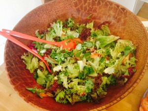 Echo Language School cocina ensalada verde